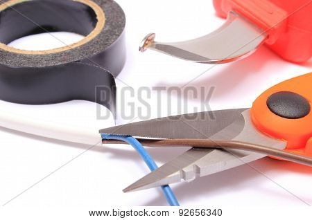 Accessories For Engineer Jobs On White Background