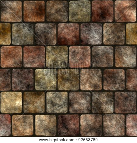 Stone Wall Seamless Generated Texture