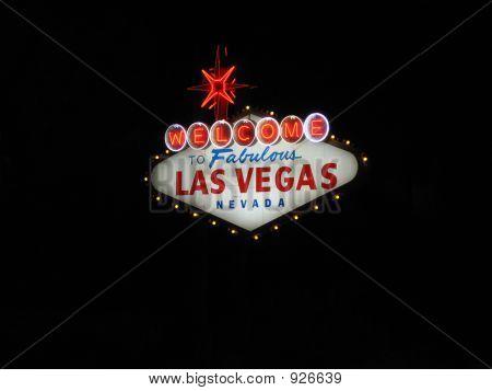 Las Vegas Sign At Night Horizontal
