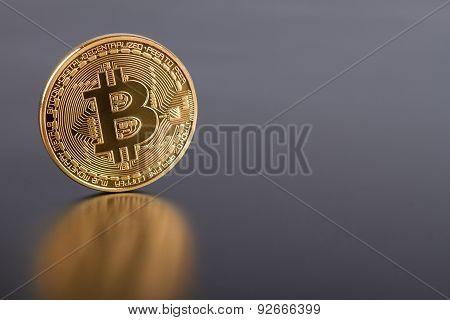 Photo Golden Bitcoin (new Virtual Money)