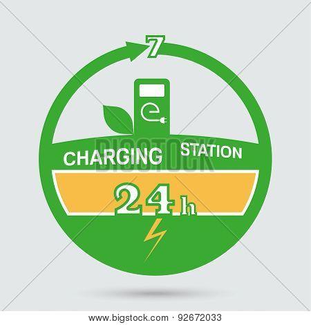 Auto Charging Station Emblem