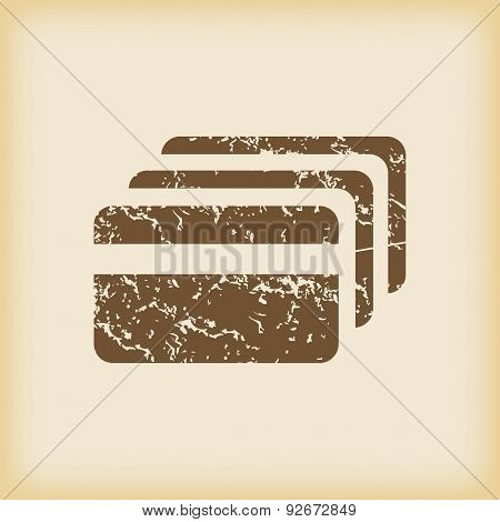 Grungy credit card icon