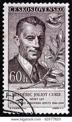 Postage Stamp Czechoslovakia 1959 Frederic Joliot Curie, French