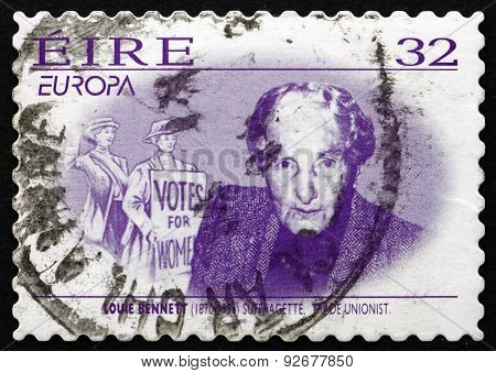 Postage Stamp Ireland 1996 Louie Bennett, Irish Suffragette