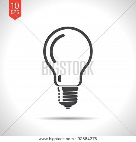 Vector lightbulb blue icon. Eps10