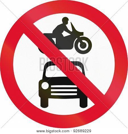 No Motor Vehicles In Hong Kong