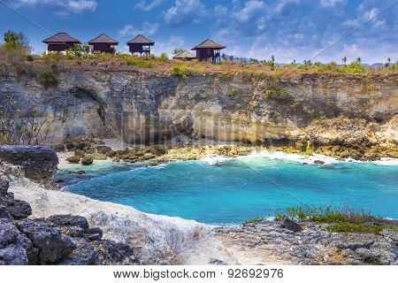 Tropical Coastline of Lembongan island. Bali. Indonesia. poster