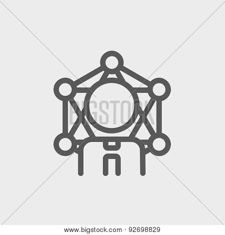 Testosterone molecule structure, medical vector illustration.