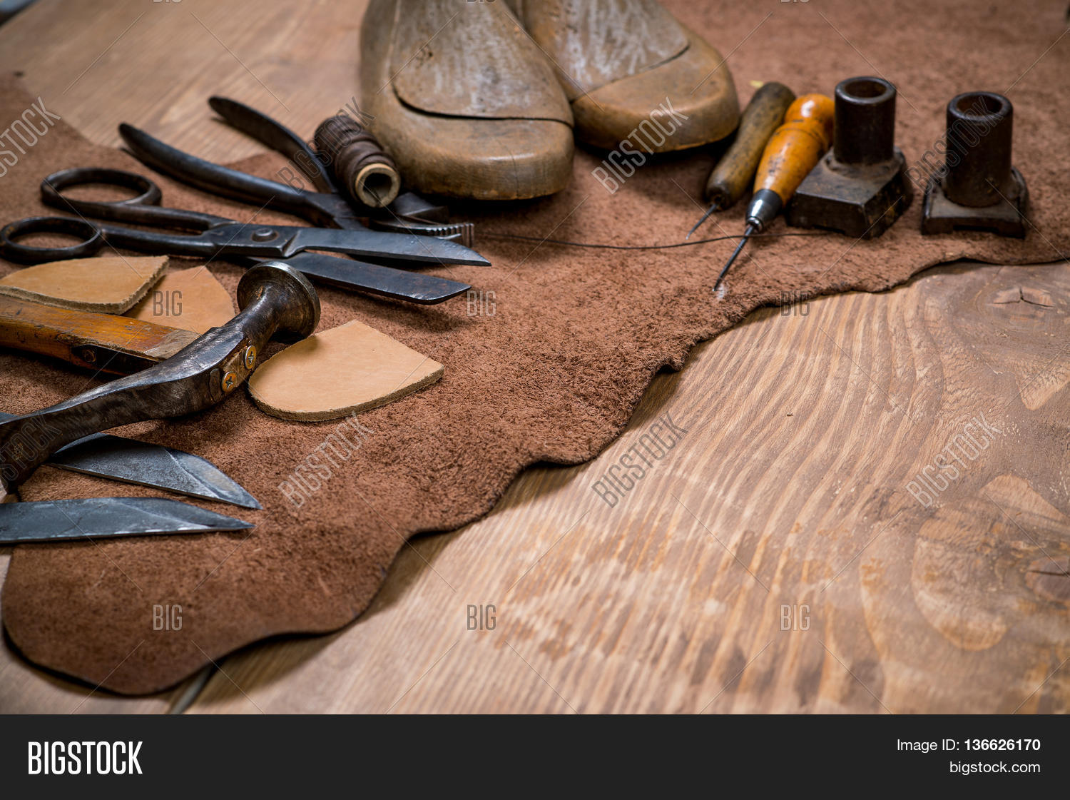 Set Leather Craft Image Photo Free Trial Bigstock