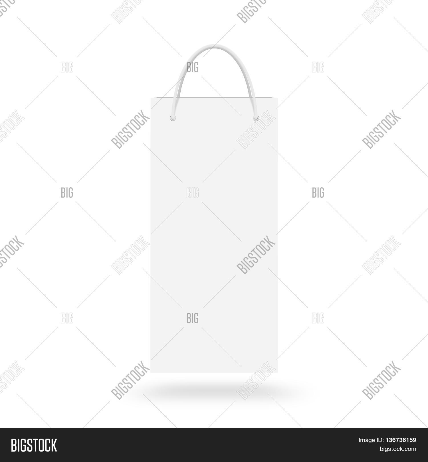 Blank Wine Paper Bag Image Photo Free Trial Bigstock