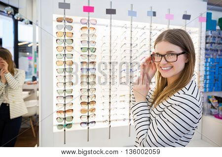 Girl Buying Glasses
