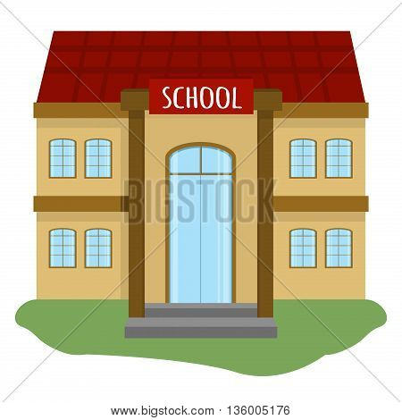 School and education building for city construction. Set of school building elements to create urban village and town landscape. Flat style vector school building education architecture city.