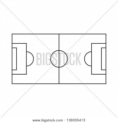 Soccer field icon in outline style isolated on white background