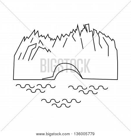 Perito Moreno glacier in Argentina icon in outline style isolated on white background