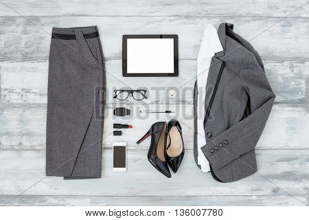 Office cloathing and tools for  business women