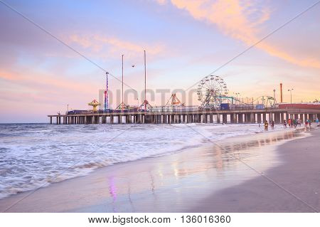 The Steel Pier At Atlantic City