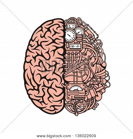 Robot Brain Symbol Vector Photo Free Trial Bigstock