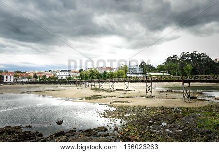 Landscape Photo Of Old Bridge In Santa Cruz Island, Oleiros, Rias Altas, A Coruna, Spain