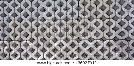 Old Interlock stone pattern for background or backdrop