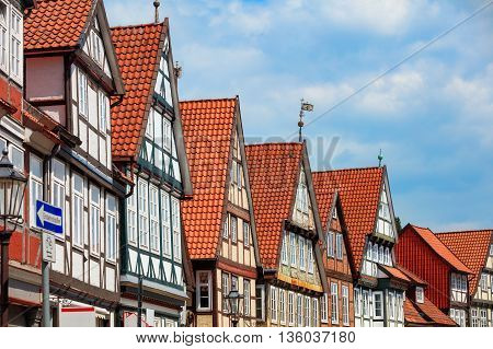 Traditional medieval architecture of Germany with timber framing
