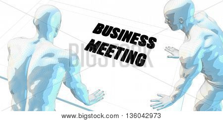 Business Meeting Discussion and Business Meeting Concept Art 3D Illustration Render