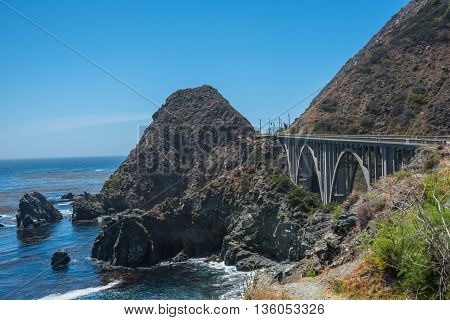 Scenic View of the California Coastline Pacific Highway 1