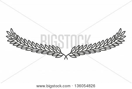 leafs wreath isolated icon design, vector illustration  graphic