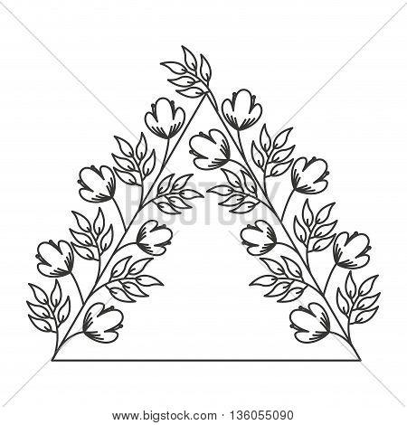 flowers wreath isolated icon design, vector illustration  graphic
