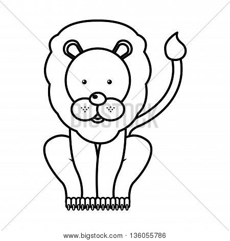 circus lion  isolated icon design, vector illustration  graphic