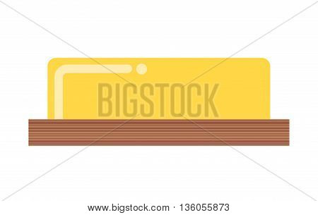 butter curl isolated icon design, vector illustration  graphic