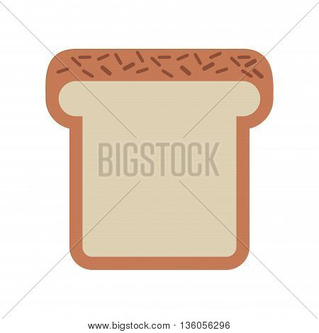 bread loaf isolated icon design, vector illustration  graphic
