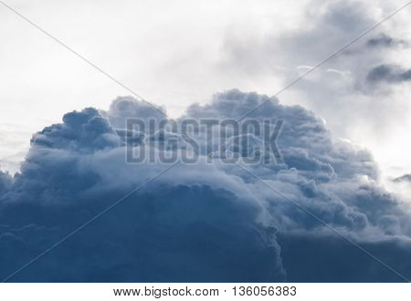 Selective focus of rain clouds, Before became rainstorm (storm, rain clouds,sky)