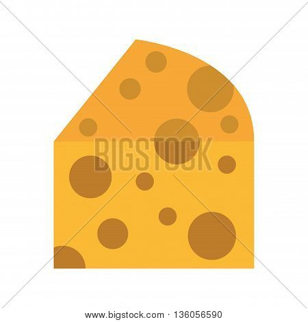 cheese piece isolated icon design, vector illustration  graphic