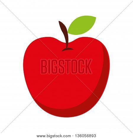 apple fresh fruit isolated icon design, vector illustration  graphic