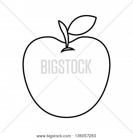 apple fresh fruit isolated icon design, vector illustration  graphic
