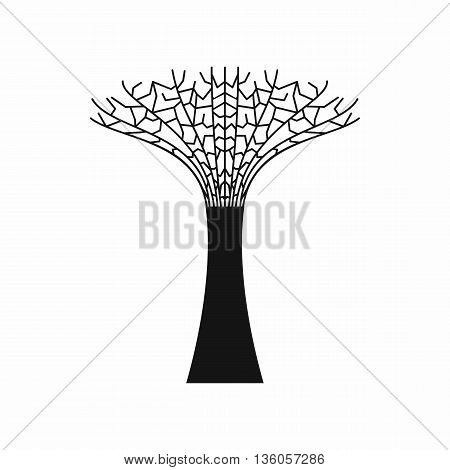 Singapore Supertree at the Gardens By The Bay icon in simple style isolated on white background