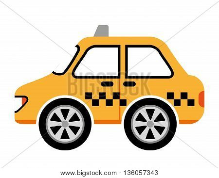 taxi car service isolated icon design, vector illustration  graphic