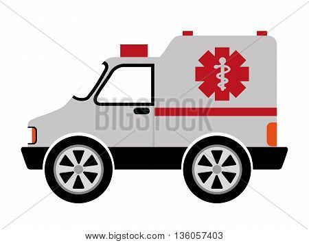 ambulance car isolated icon design, vector illustration  graphic