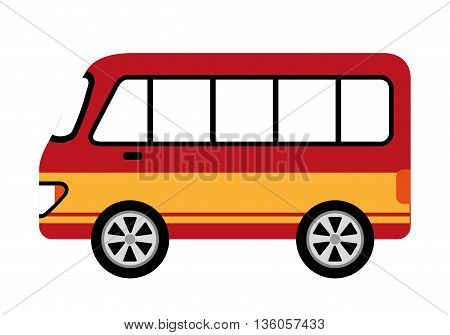 bus style car isolated icon design, vector illustration  graphic