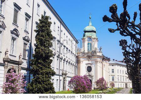 Priesterseminarkirche in Linz. Linz Upper Austria Austria.