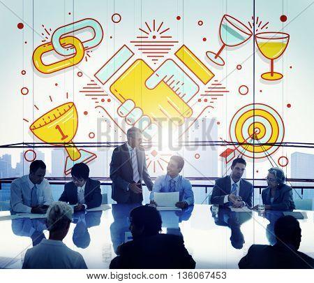 Acheivement Success Teamwork Partnership Concept
