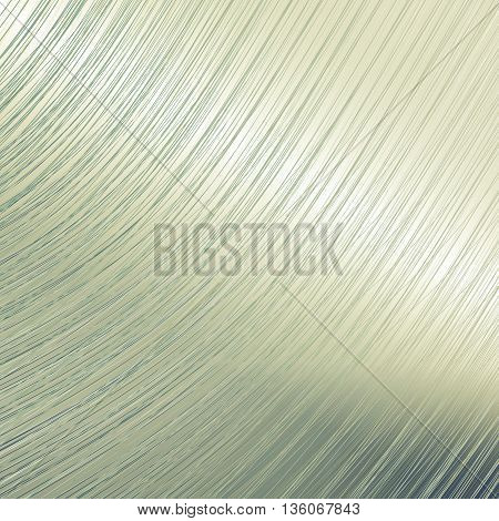 Bent metal mirror surface background. Sliver color
