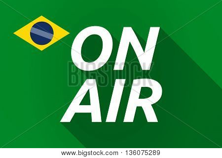 Long Shadow Brazil Flag With    The Text On Air