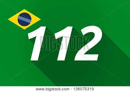 Long Shadow Brazil Flag With    The Text 112