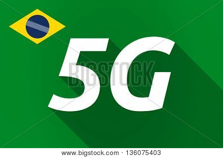 Long Shadow Brazil Flag With    The Text 5G