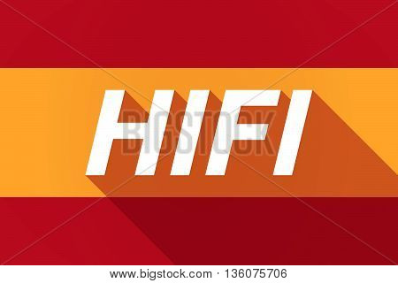 Long Shadow Spain Flag With    The Text Hifi