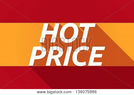 Long Shadow Spain Flag With    The Text Hot Price