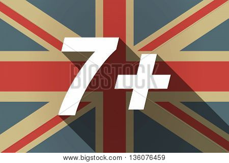 Long Shadow Uk Flag With    The Text 7+