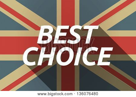 Long Shadow Uk Flag With    The Text Best Choice