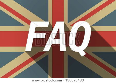 Long Shadow Uk Flag With    The Text Faq